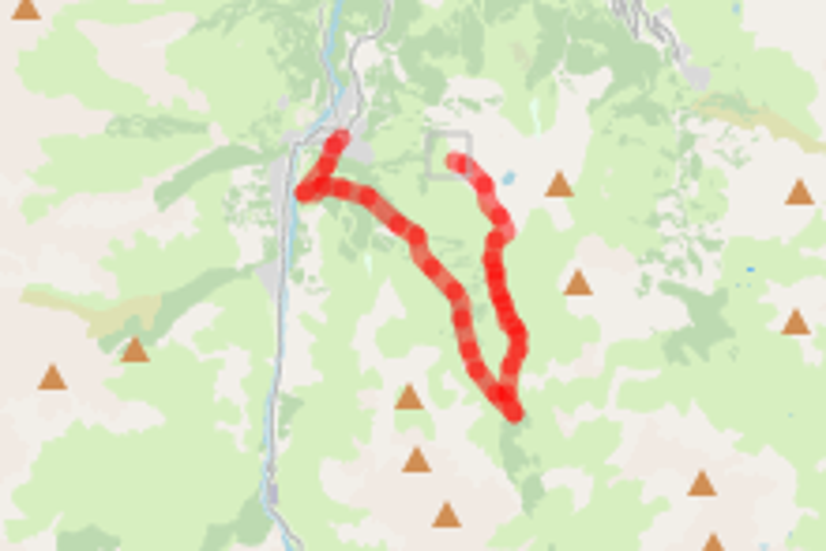 Itinéraire de randonnée pédestre : sommet télécabine de la Brive à Valloire