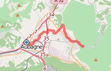 Vers l'aqueduc de Roquefavour