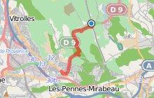 GR2013 : de la gare Aix TGV à Vitrolles