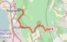 GR2013 : De la Corniche de Rognac à la gare Aix TGV