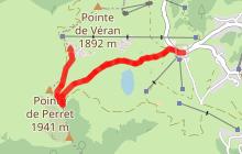 La Pointe du Haut Fleury depuis le Praz de Lys