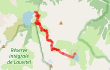 Col du Vallon du lac de la Muzelle au lac Lauvitel