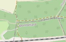 Chemin de Compostelle - Bretelle Bâle-Héricourt en Haute-Saône - Vosges du sud