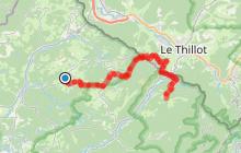 """Randonnée itinérante """"Etape d'Esmoulières à Château-Lambert"""" - Vosges du sud"""