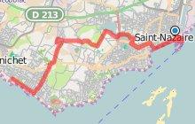 Circuit velo de saint-Nazaire à Pornichet