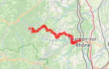 Enduro VTT Lalouvesc-Tournon-sur-Rhône difficile