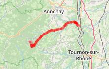 Parcours cyclo descendant Le Val d'Ay