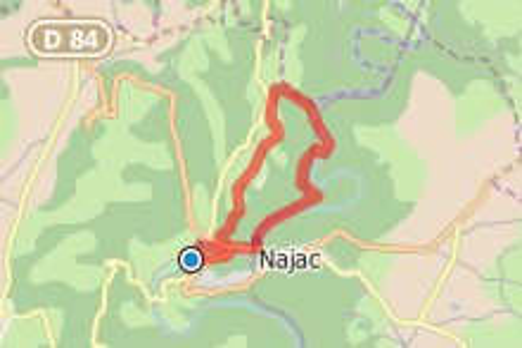 Sentier VTT : Saint Gignac au départ de Najac