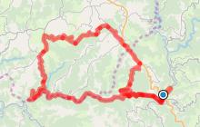 Circuit Cyclo 11 - Un peu de Cantal au départ d'Entraygues