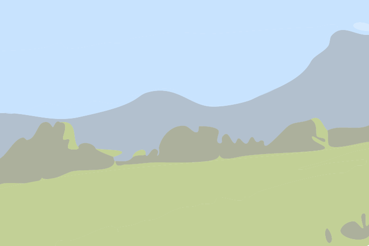 La coulée de lave et le lac de la Fage