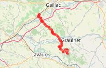 Tour du Tarn à cheval : Damiatte / Lisle sur Tarn