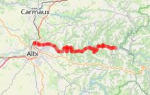Véloroute Vallée du Tarn : Lescure d'Albigeois / Trébas