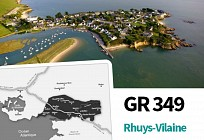 GR 349 Rhuys-Vilaine (Officiel): �tape 00 Ensemble de l'itin�raire sur Arc Sud Bretagne