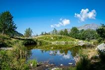 Randonn�e p�destre : 4 - Chalets et lac d'Armancette