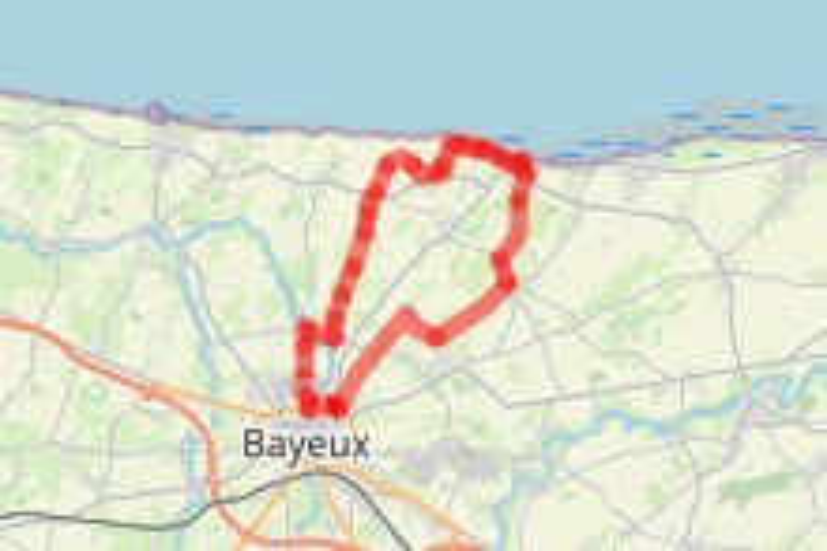 Boucle vélo 5 - les sites du Débarquement à vélo