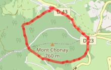 Parcours de Trail du Mont Chonay
