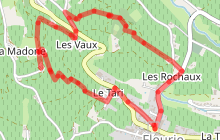 Parcours de trail de la Madone