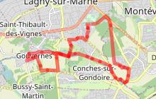Chanteloup-Conches-Gouvernes à vélo