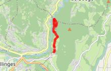 Sentier de randonnée - Les Meulières à Vachat