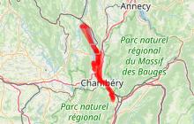 Véloroute V63 en Savoie ' de Chanaz aux Marches