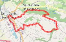 Sentier de randonnée G6 - Les Hauts de St- Genix - St Genix sur Guiers