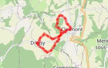 Randonnée pédestre - Boucle en huit entre Clermont et Droisy