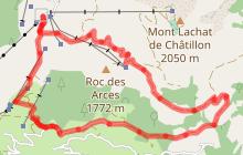 Circuit VTT cross-country : tour du Roc des Arces