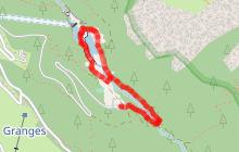 Promenade confort : Torrent et lac de La Rosière