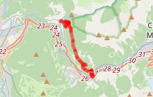 Itinéraire VTT : Liaison Les Eaux Rousses - Montvauthier - Servoz