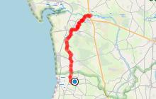 Itinéraire cyclable Lessay-Créances-Pirou-Geffosses
