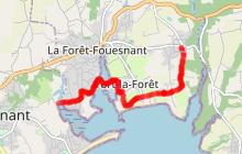 Véloroute V5 sur La Forêt-Fouesnant