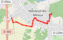 Randonnée - Nanteuil-Lès-Meaux (tracé vert GR14 A)