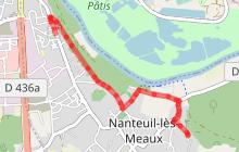 Randonnée - Nanteuil-Lès-Meaux (tracé violet)