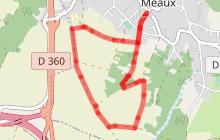 Randonnée -  Nanteuil-lès-Meaux  (tracé rouge)