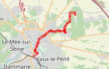 Melun Vaux le Vélo et à pied (parcours à vélo n°1)