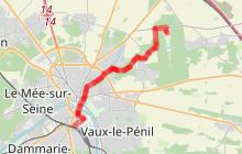 Melun Vaux le Vélo et à pied (parcours à vélo n°2)