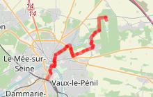 Melun Vaux le Vélo et à pied (parcours à pied)
