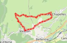 Sentier des Montagnettes de Valezan