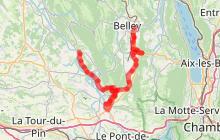 ViaRhôna - Etape 6 - Belley à Groslée par St-Genix-sur-Guiers