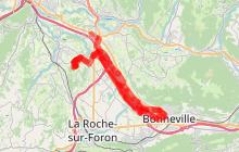 Cheminement Léman Mt Blanc à vélo : tronçon Bonneville-Nangy