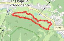 Itinéraire raquettes : Le balcon de La Chapelle