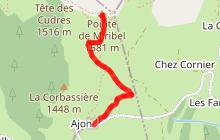 """Randonnée """"La pointe de Miribel - depuis Ajon"""""""