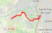 Chemin de Montaigne - Etape 2 - Chaponost > Brindas