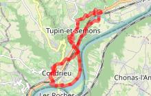 Randonnée entre Rhône et vignobles : Tupin, Condrieu, Semons