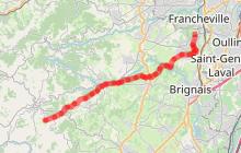 Chemin de Saint Jacques de Compostelle - Etape 2 - Chaponost/Saint-Martin-en-Haut