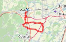 Circuit cyclo Route de la choucroute