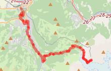 Itinéraire trail difficile - Montée du Nid d'Aigle