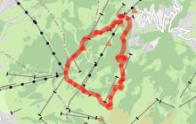 Itinéraire trail facile - Boucle du Mont d'Arbois