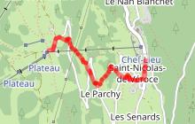 itinéraire trail facile - Montée du Plateau de la Croix