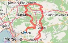 De Allauch à Aubagne par Aix-en-Provence
